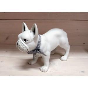 FIGURKA Z TWORZYWA (biały pies) DEKORPAP
